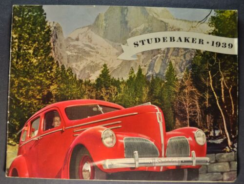 1939 Studebaker Catalog Sales Brochure Commander President Nice Original 39