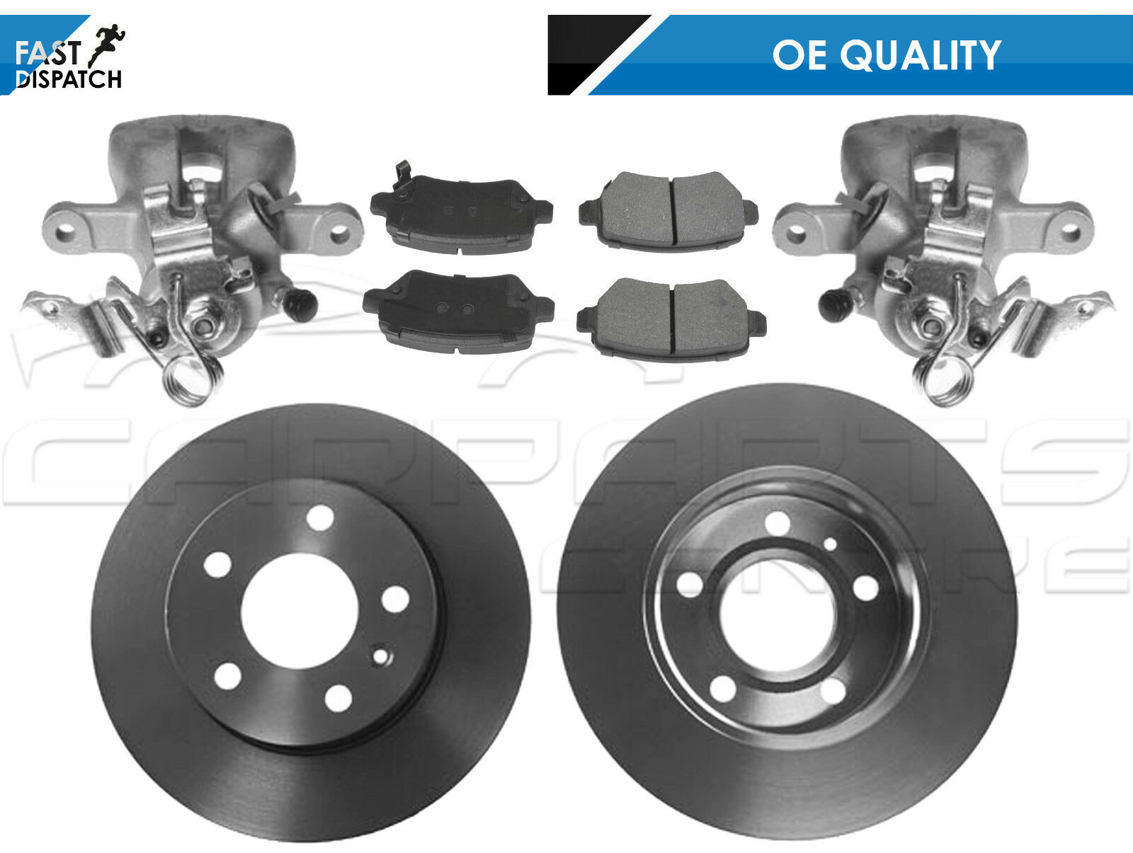 VAUXHALL ASTRA H 2004-2010 FRONT BRAKE DISCS 5 STUD  AND FRONT BRAKE PAD SET