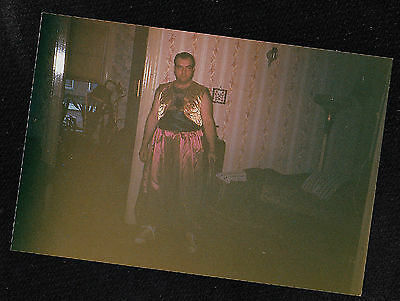 Vintage Photograph Man Wearing Crazy Arabian? Costume for Halloween](Crazy Costumes For Halloween)