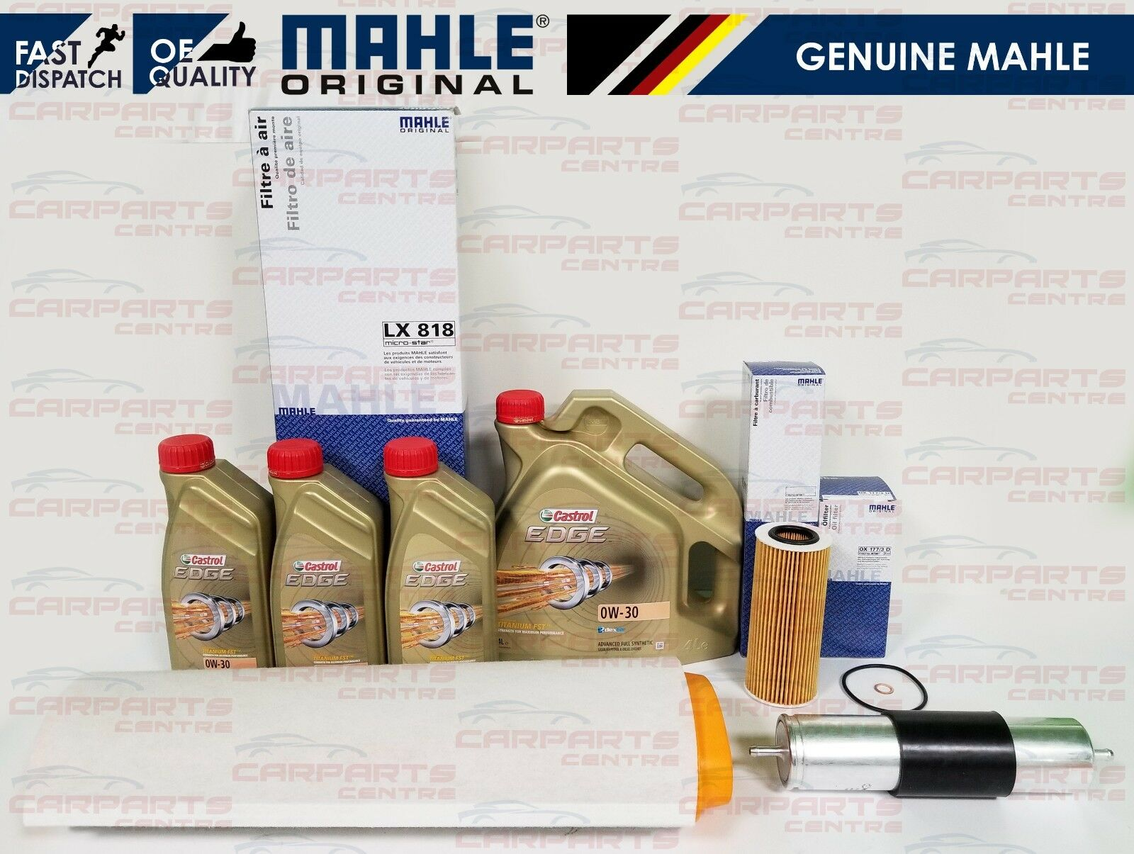 FOR BMW X5 E53 3 0D 3 0 DIESEL 2003 AIR OIL FUEL FILTER SERVICE KIT