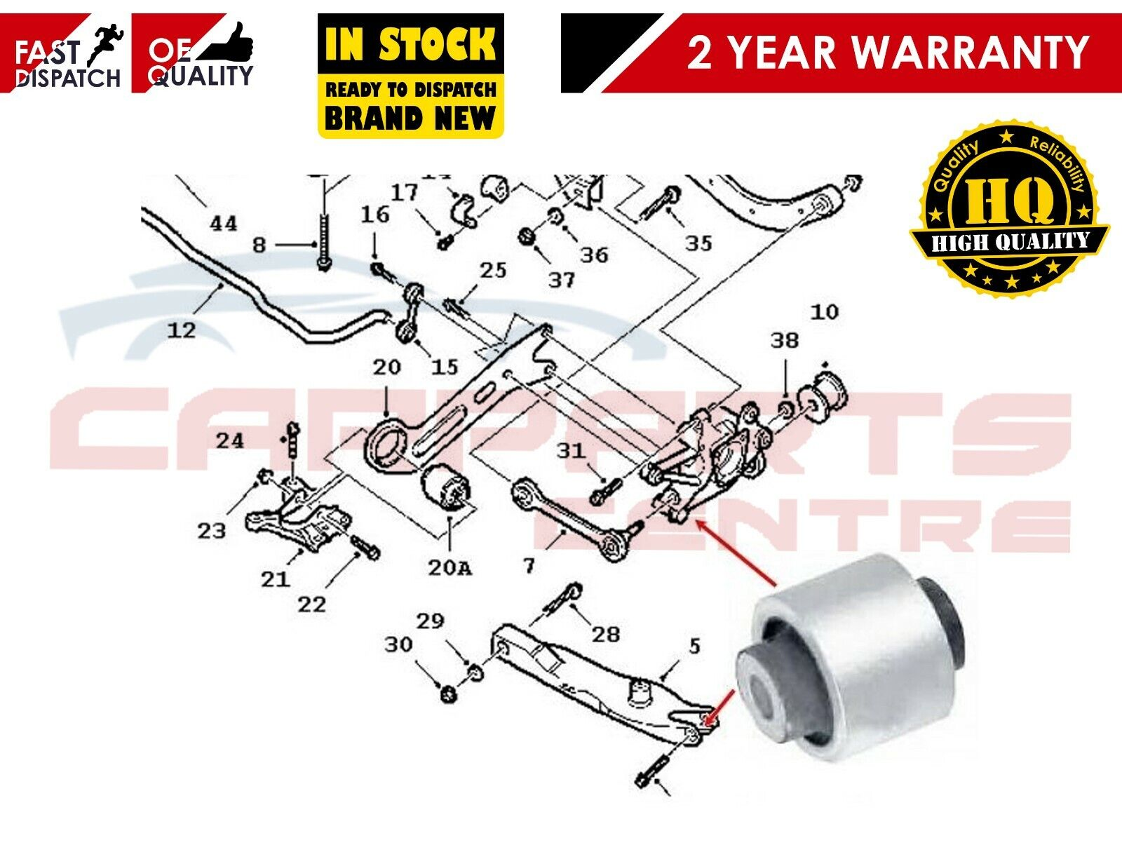 Vauxhall//Opel Vectra 2 C Rear Suspension Upper Trailing Control Arm Key Parts