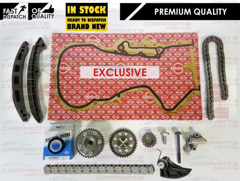 FOR VW GOLF 1.4 1.6 MK5 MK6 TIMING CHAIN KIT TENSIONER GEARS VVT PULLEY OIL PUMP