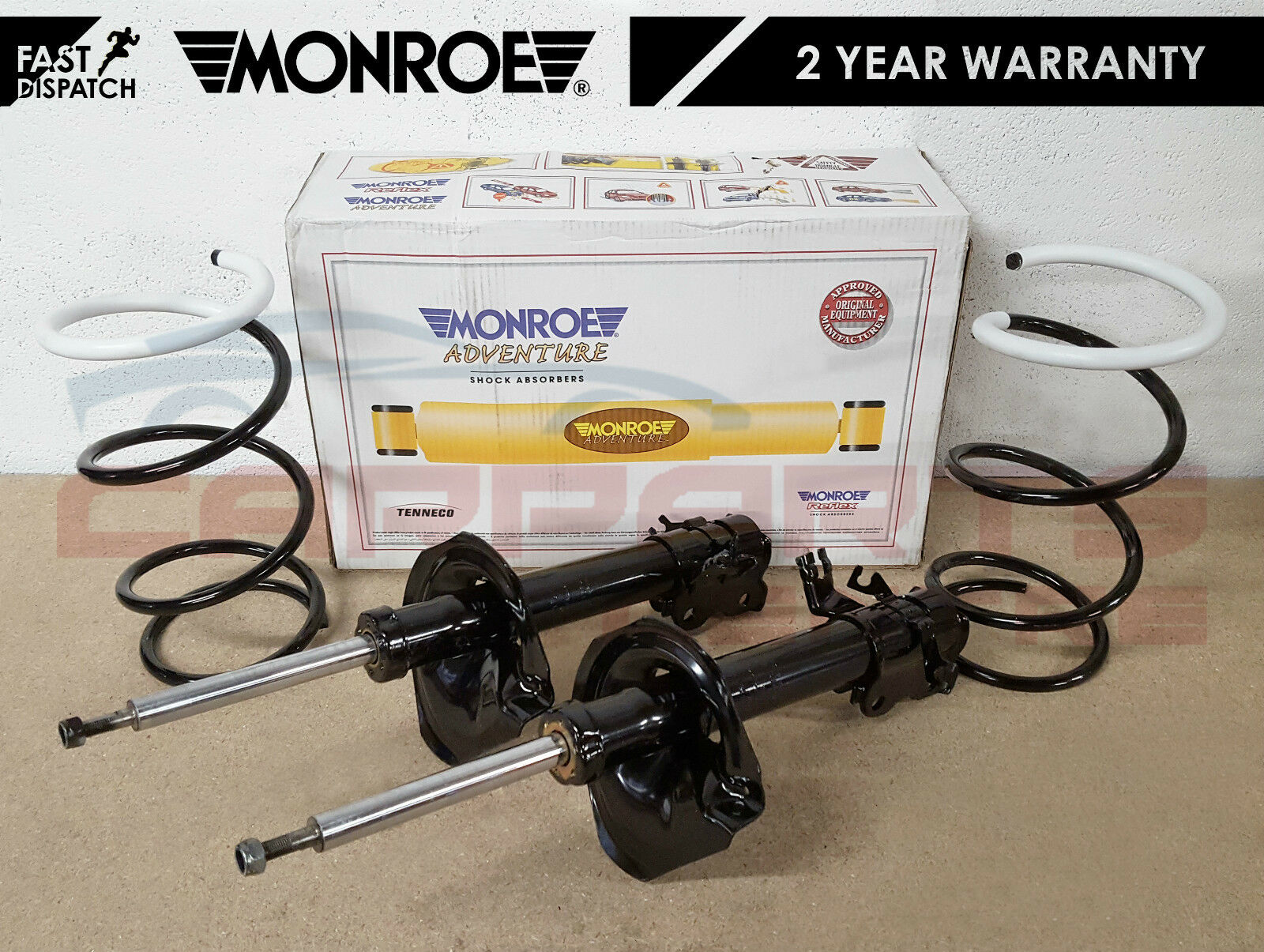FOR NISSAN XTRAIL X-TRAIL T30 2.2 DCi 2 FRONT MONROE SHOCK ABSORBER SPRINGS