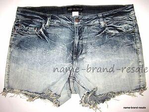 NEW Denim Cutoff Jean SHORTS Womens PLUS Size 18 2X Dip Dye Ombre Summer Fray