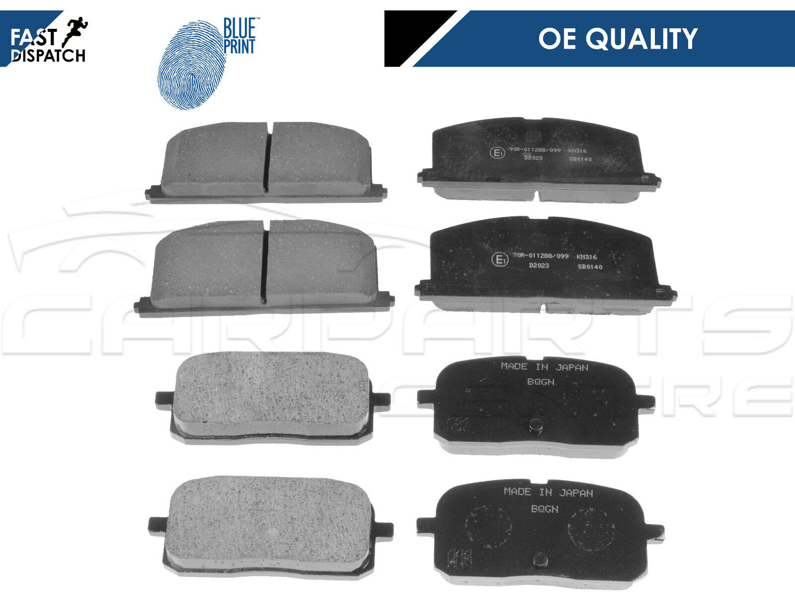 Details about FOR Toyota Starlet GT Turbo Glanza V EP82 EP91 Front & Rear  Brake Pads BLUEPRINT