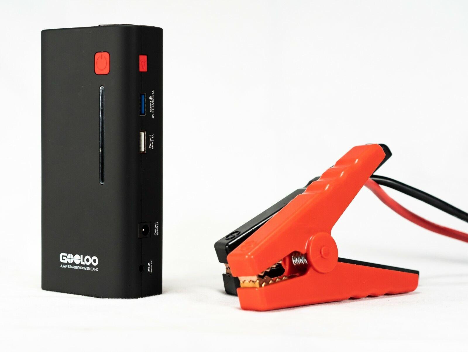 GOOLOO Car Jump Starter 800A Peak 18000mAh SuperSafe USB Quick Charge 3.0 GP37+ Automotive Tools & Supplies