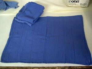 100 BLUE SURGICAL TOWELS, CLEANING JANITORIAL WINDOW RAGS WIPERS SHOP