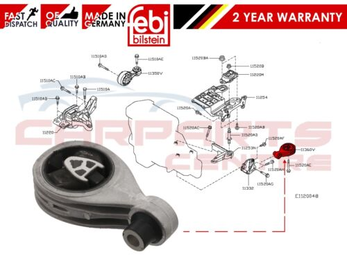 FOR NISSAN QASHQAI +2 X-TRAIL 1.6 2.0 dCi REAR ENGINE MOUNTING MOUNT 11360-JD70A
