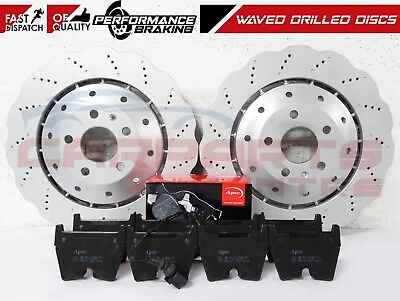 FOR AUDI RSQ3 RS Q3 FRONT DRILLED 2 PIECE BRAKE DISCS BRAKE PADS SET 365mm