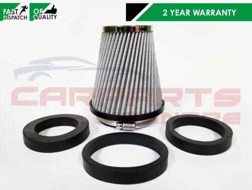 UNIVERSAL PERFORMANCE INDUCTION AIR FILTER CONE KIT CHROME TOP WIRE MESH BODY
