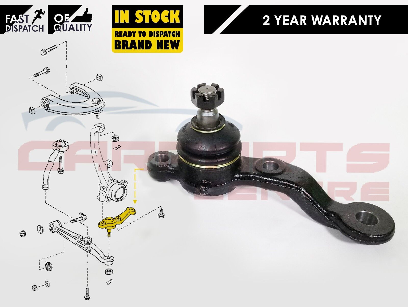 LEXUS IS200 IS300 2 FRONT UPPER BALL JOINT NEW