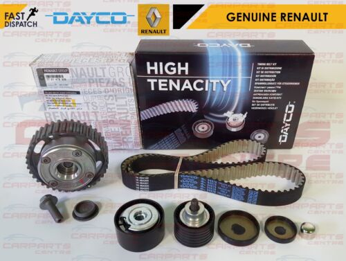 FOR RENAULT CLIO 197 200 GENUINE CAMSHAFT DEPHASER PULLEY TIMING CAM BELT KIT