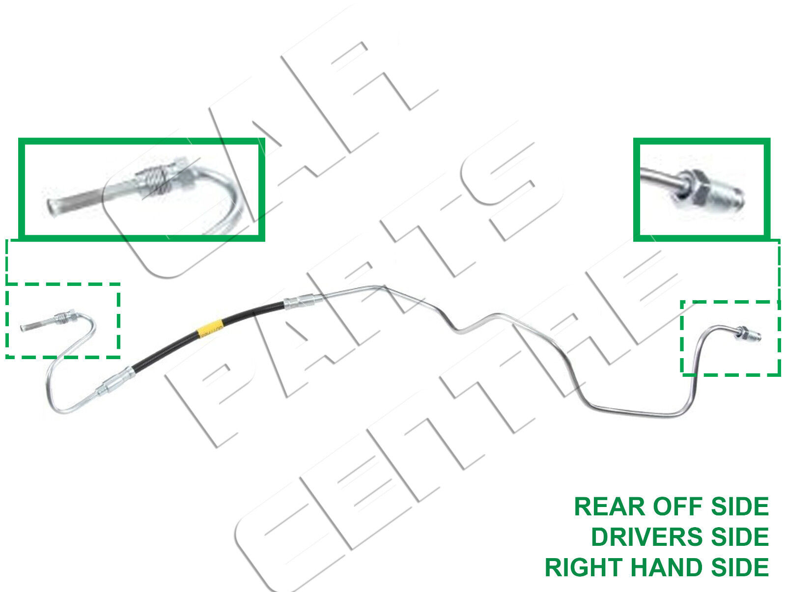 For Citroen Ds4 Right Drivers Side Outer Rear Brake Hose Inc Copper C8 Abs Wiring Diagram Metal Pipe