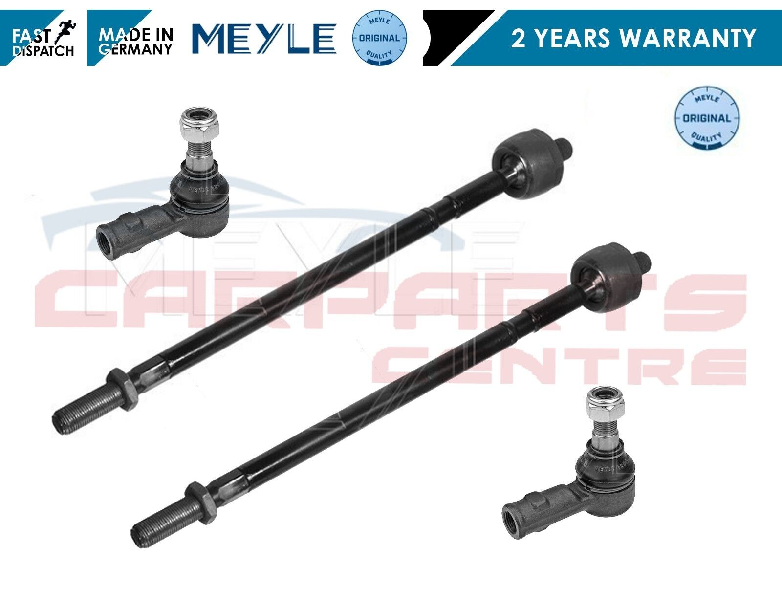 FOR PORSCHE BOXSTER 1996--/> NEW 2x INNER STEERING TRACK RACK TIE ROD END SET
