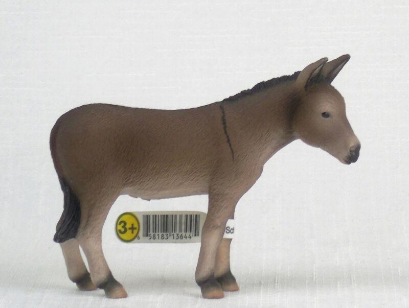 RETIRED Schleich DONKEY 13644 Farm Animal Figure NEW WITH TAG