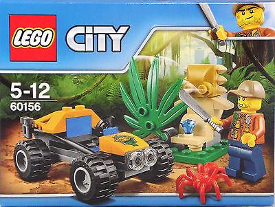 LEGO 60156 Dschungel Buggy Abenteurer Spinne Machete verborgener Diamant NEU OVP ()