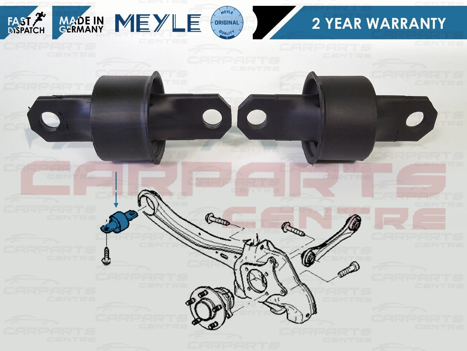 FOR MAZDA 3 5  1.4 1.6 2.0 2.3 REAR AXLE SUSPENSION TRAILING ARM BUSHES PAIR