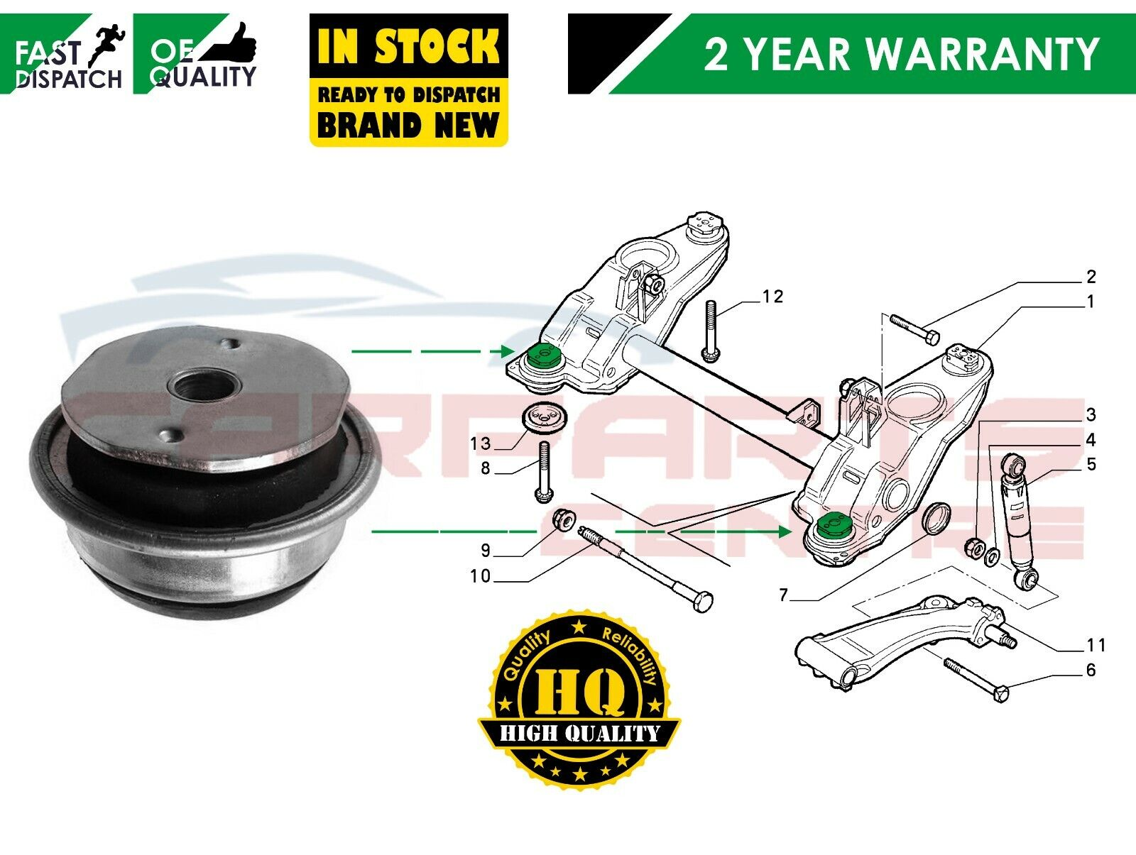 FIAT MULTIPLA ALL MODELS 1999-2005 TRACK CONTROL ARMS TRACK TIE ROD ENDS LINKS