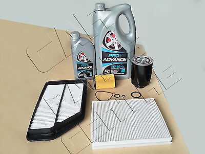 FOR HONDA CIVIC 2.2 CTDI 6 LITRES OIL AIR FUEL POLLEN ENGINE SERVICE FILTER KIT