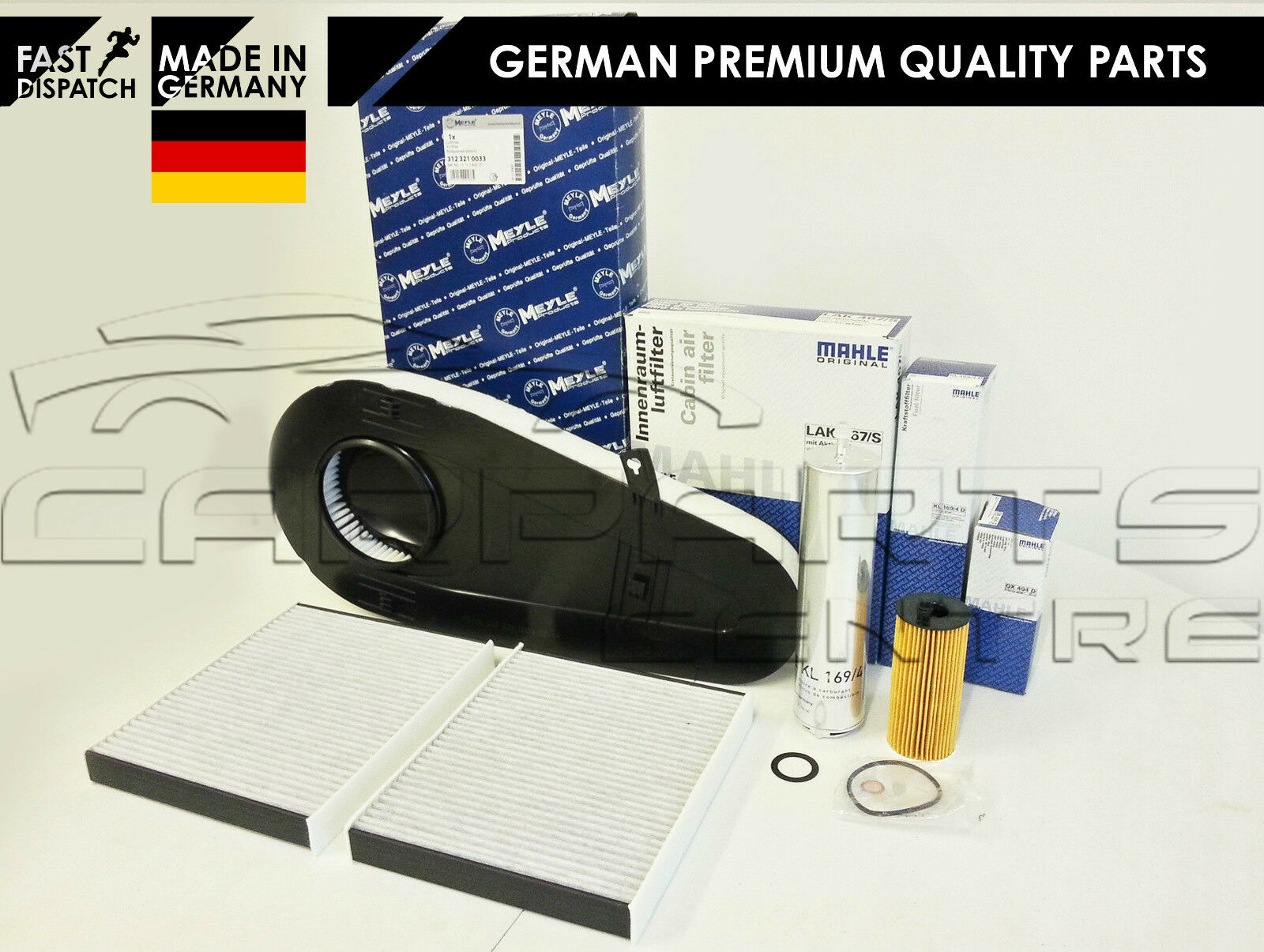 Details about FOR BMW 520 D 520D F10 F11 SERVICE KIT OIL AIR FUEL CABIN  POLLEN FILTER MAHLE