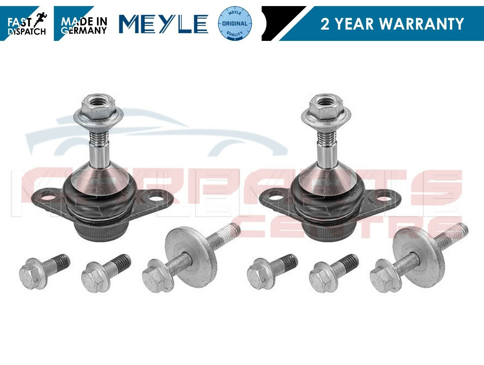 03-13 Front Suspension Ball Joints x2 Meyle HD for Volvo XC70 XC90 S60