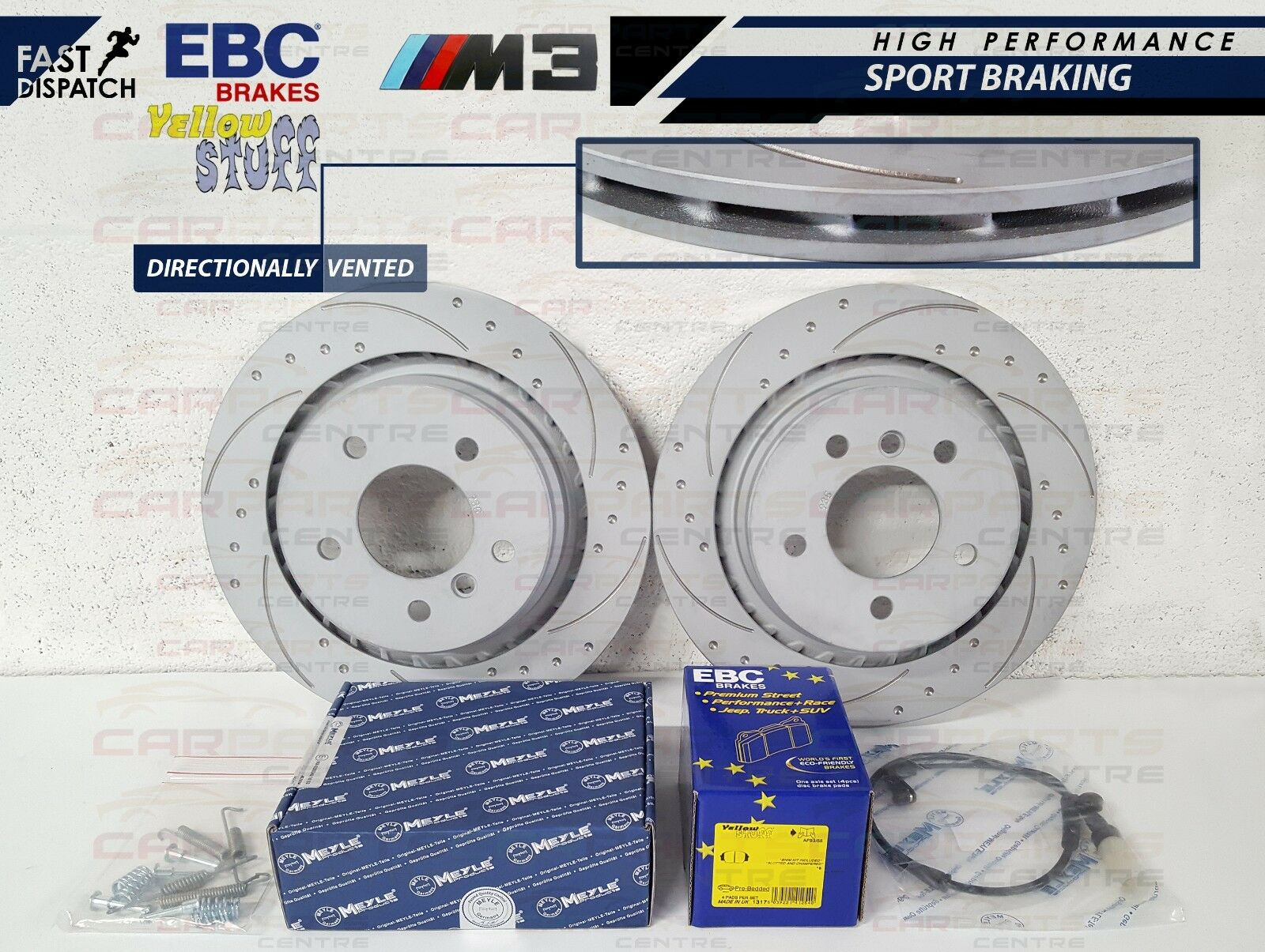 for Nissan 350Z Rear Grooved Brake Disc Set 292mm