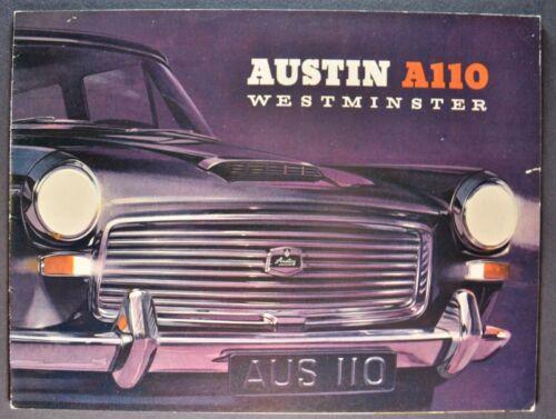 1963-1964 Austin A110 Westminster Sedan Catalog Sales Brochure Nice Original