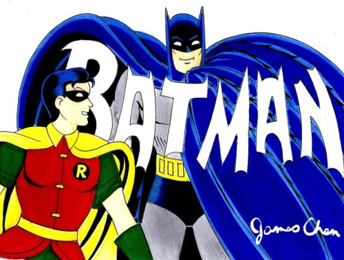 POP ART BATMAN # 4 ORIGINAL COMIC ART BY COMIC BOOK ARTIST JAMES CHEN