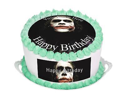 Joker Birthday Cake (Cake Topper Birthday Joker personalised Rice paper,Icing fondant Sheets)