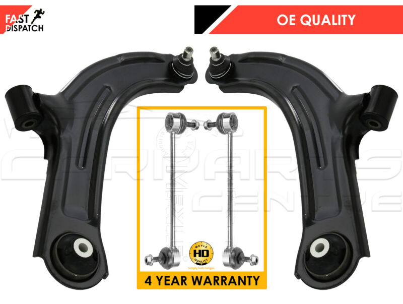 FOR NISSAN MICRA K12 FRONT LOWER SUSPENSION ARMS ANTIROLL BAR MEYLE HD LINKS NEW