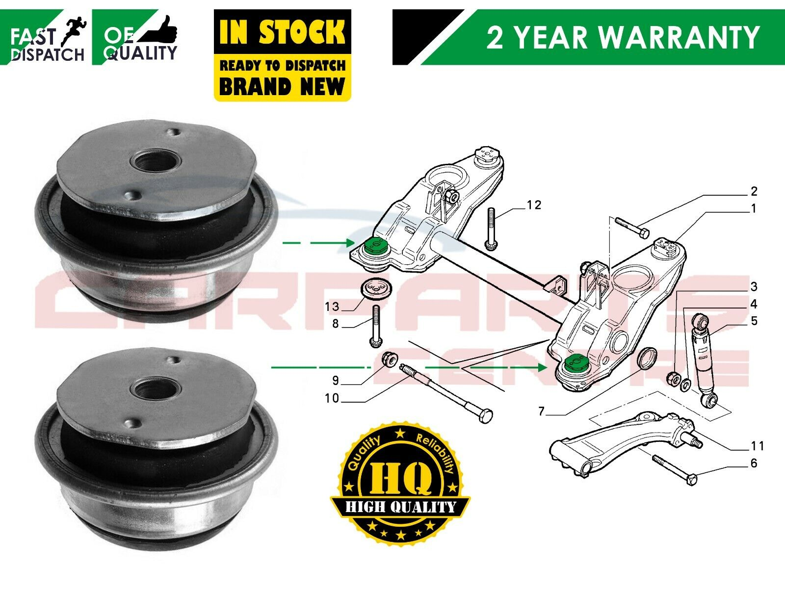 Anti-Roll/Sway Bars Vehicle Parts & Accessories FIAT MULTIPLA 1.9 JTD ANTI  ROLL BAR BUSH BUSHES FIT ALL MODELS ALL YEARS X 2