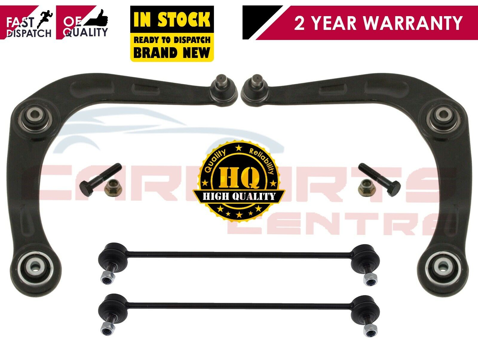 FOR PEUGEOT 206 1998-2009 2 FRONT ANTI ROLL BAR LINKS D BUSHES TRACK ROD ENDS