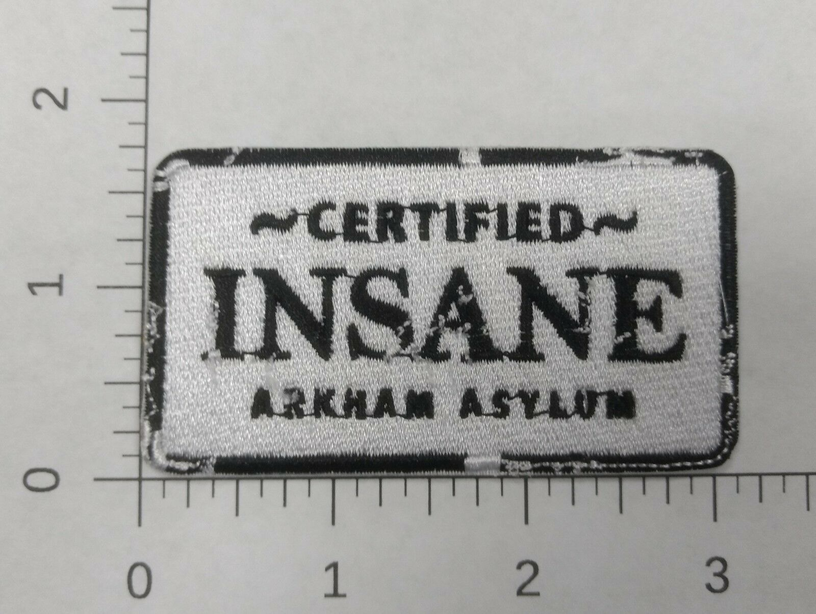 Certified Insane Embroidered Iron-On Patch Batman