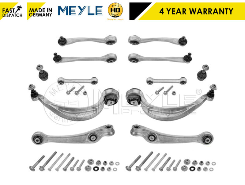 AUDI A4 A5 Q5 FRONT LOWER UPPER REAR SUSPENSION CONTROL ARMS LINKS SET MEYLE HD