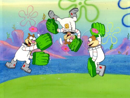 ANIMATION ART EMPORIUM Presents: SpongeBob SquarePants Production cels Sandy x 3