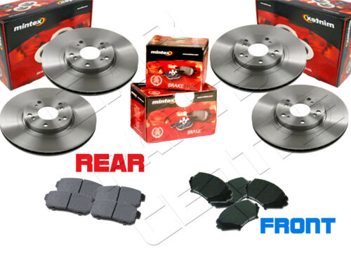FOR MAZDA RX8 FRONT & REAR MINTEX BRAKE DISC 323mm VENTED DISCS PADS SET 2003-