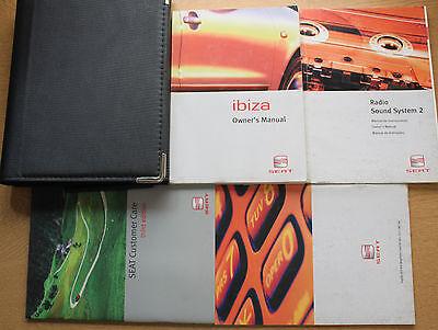SEAT IBIZA HANDBOOK OWNERS MANUAL WALLET 1999-2002 PACK 15088 !