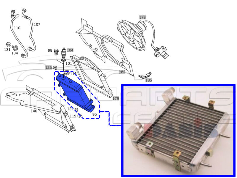 FOR MERCEDES E CLASS W210 E50 E430 E300 D TD PETROL DIESEL ENGINE OIL COOLER OE