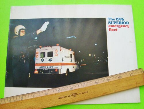 1976 CADILLAC / CHEVY / DODGE AMBULANCE DLX COLOR BROCHURE 20-pgs SUPERIOR Xlnt+