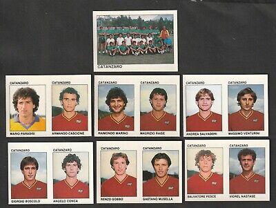 LOTTO DI 7 FIGURINE ALBUM CALCIATORI CALCIO FLASH 84 1983-84 CATANZARO COMPLETA