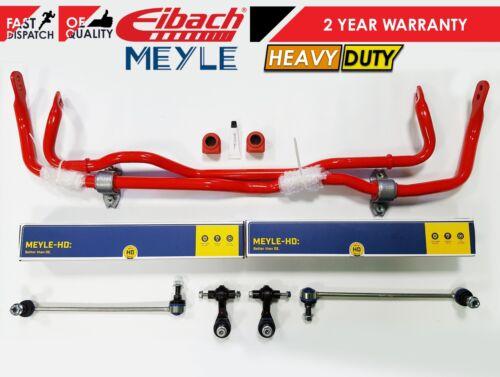 For GOLF R MK7 S3 FRONT REAR EIBACH SPORTS HEAVY DUTY ANTIROLL BAR BUSHES LINKS