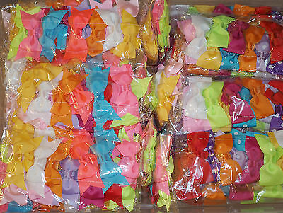 43 Pcs  Mix lot Baby Toddler Girls elastic headband headwear Hair Bow 4 Styles.