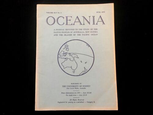 OCEANIA JOURNAL JUNE 1975 NEW GUINEA WARFARE ANTHROPOLOGY PACIFIC ISLANDERS