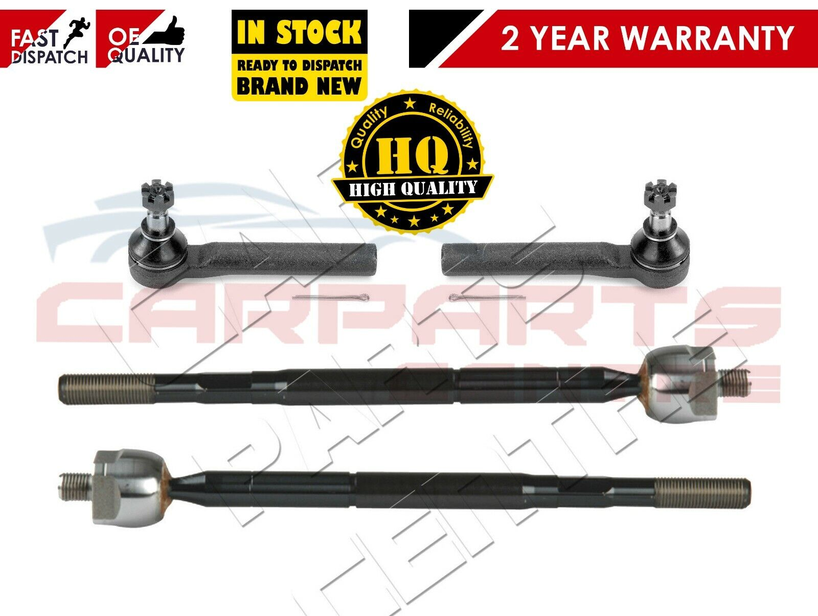 FOR SUBARU IMPREZA 1993-2000 2x OUTER /& 2x INNER STEERING TRACK RACK TIE ROD END