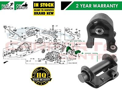 FOR HONDA CRV 01-05 REAR DIFFERENTIAL SUPPORT MOUNTING DAMPER BUSH KIT COMPLETE