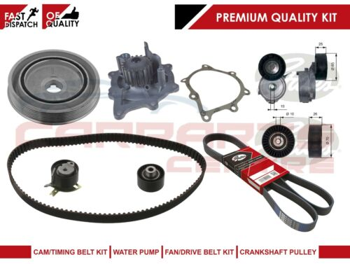 FORD MONDEO 2.2 TDCI TIMING FAN BELT CRANK SHAFT PULLEY TENSIONER WATER PUMP KIT