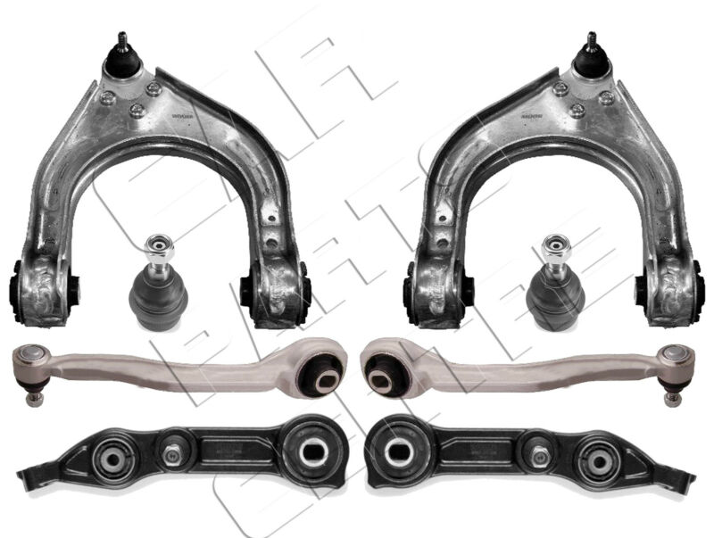 FOR E CLASS W211 S211 FRONT LOWER UPPER WISHBONE SUSPENSION CONTROL ARMS KIT