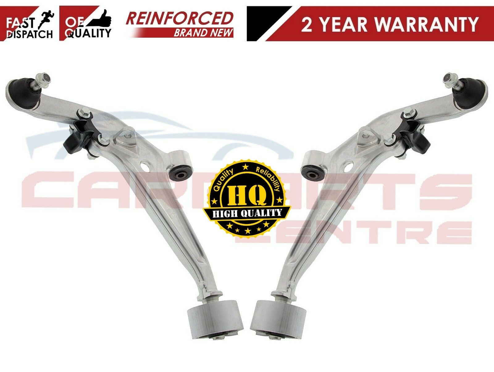Pair OE-quality Brand New Front Control Arm kit for BMW 5 Series Vehicles