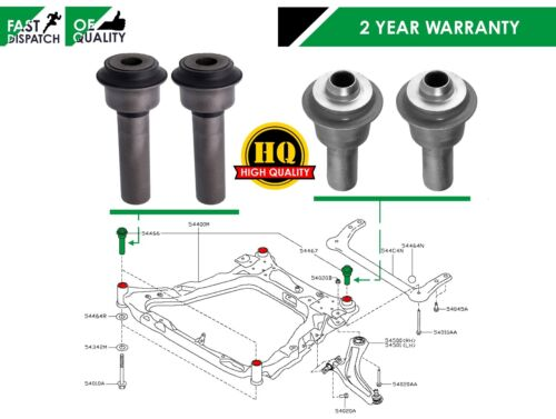 FOR NISSAN XTRAIL T31 FRONT SUBFRAME MOUNT MOUNTING BUSHES 4 BUSH SET HEAVY DUTY