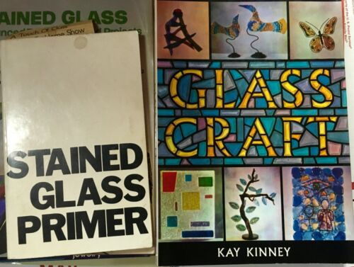 big lot STAINED GLASS & LEADED GLASS books: How To, Patterns Ideas skills TOOLS
